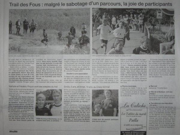 N°48 - 12 mai 2013 : Trail des Fous à St Berthevin