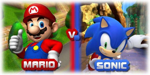Duel n°1: Mario contre Sonic.