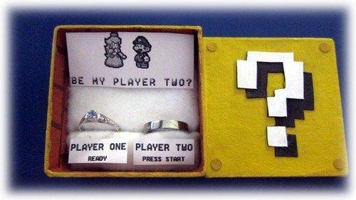 Une demande en mariage pour geek.