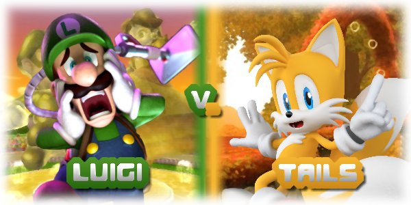 Duel n°3: Luigi contre Tails.