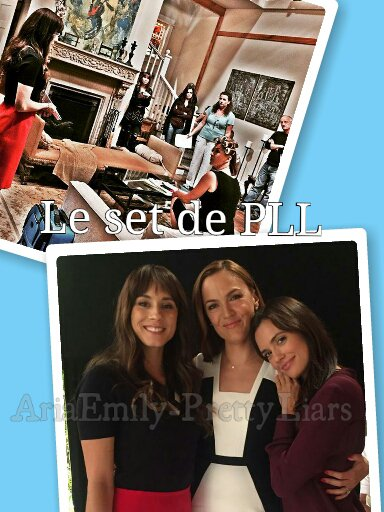 Photoshoot de nos Liars + photos du set de PLL