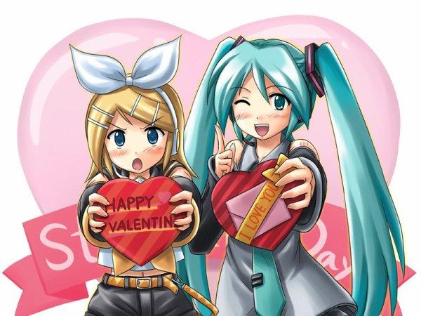 Joyeuse st valentin  ! tous les amoureux et aux célibataire bien sur !
