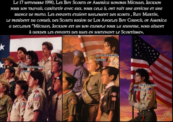 ♫♪ The Boy Scouts of America honore Michael Jackson ♪♫