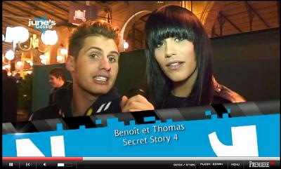 Benoit et Thomas au train de Noel ! Le 15 Decembre 2010 à la gare du Nord à Paris.