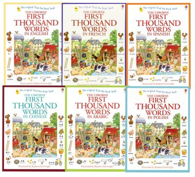 Usborne My First Thousand Words 6 Books Collection Set