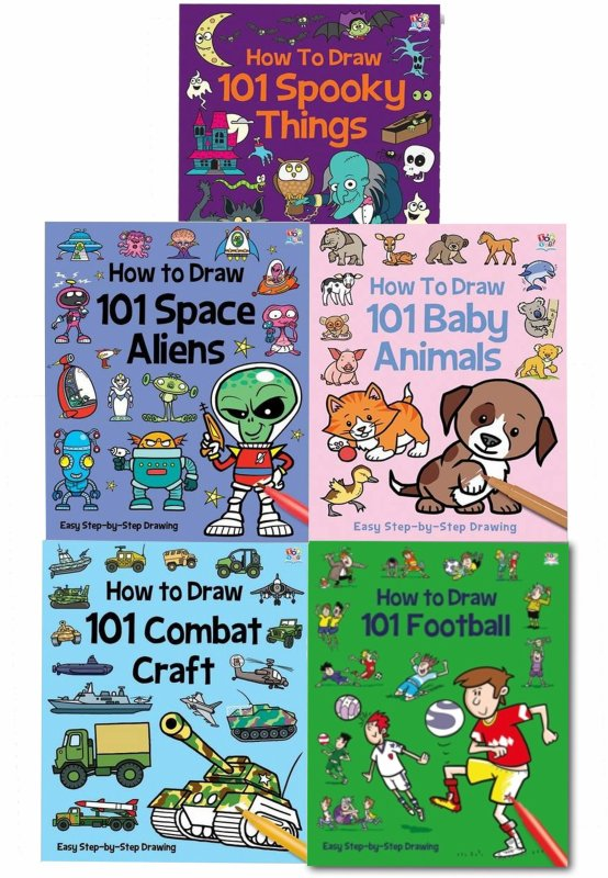 How to Draw 101 Collection 5 Books Set by Barry Green