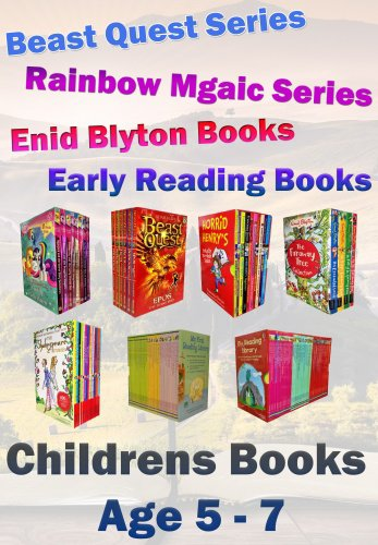 Snazal Kids Books Age 5 to Age 7 collection (books for 5, 6, and 7 year olds, Beast quest, Rainbow magic, Blyton, children stories)