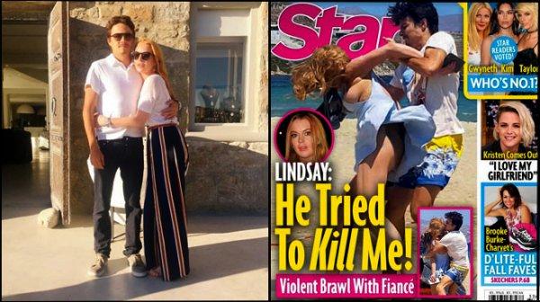 """07 / 08 / 2016 : Lindsay Lohan : """"Aucune femme ne peut être frappée et rester""""   Lindsay Lohan a décidé de briser le silence sur sa relation amoureuse tumultueuse avec Egor Tarabasov dans les tribunes du Daily Mail.Brutalisée par son fiancé, elle s'exprime enfin...  """"Je réalise maintenant qu'on ne peut pas rester dans une relation juste par amour. Aucune femme ne peut être frappée comme cela et rester avec son compagnon si ce dernier n'est pas prêt à s'excuser. J'ai voulu faire cette interview car il est temps de dire la vérité. Ça n'est pas la première fois, c'est ça le problème."""" Lindsay n'a toutefois pas précisé si elle avait rompu..."""