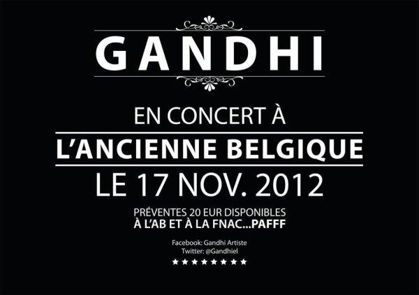 Gandhi à l'Ancienne Belgique