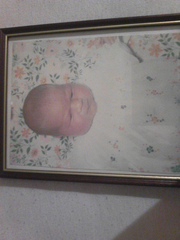 moi bébé a ma naissance