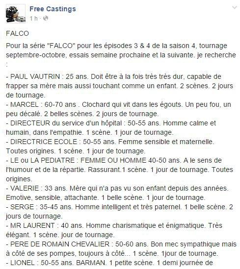 Falco: Casting saison 4!