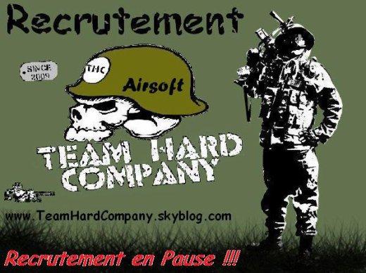 RECRUTEMENT TEAM HARD COMPANY AIRSOFT