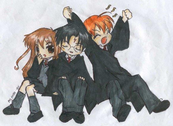 Hermione , Harry , Ron
