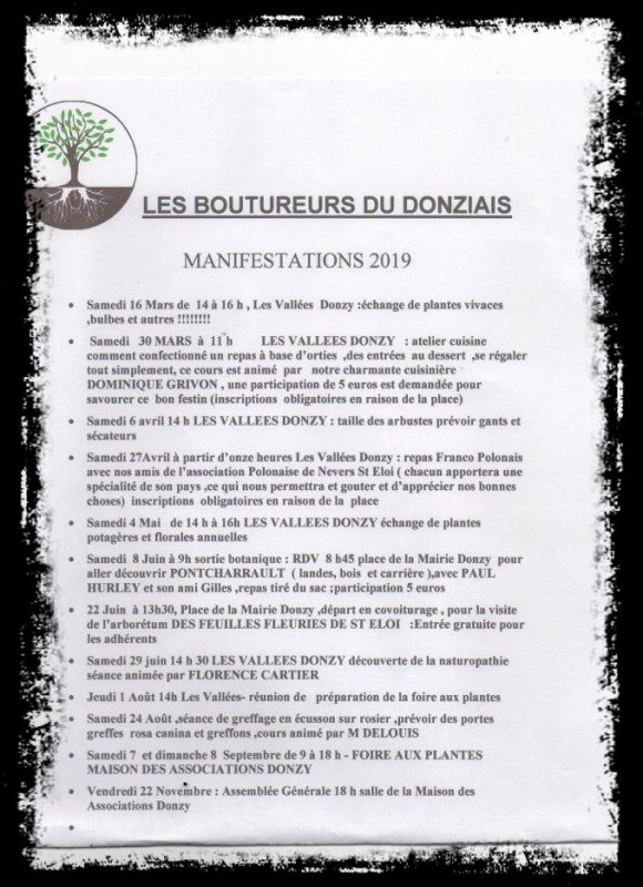 manifestations 2019 des BOUTUREURS