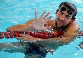 Michael Phelps a Vichy.