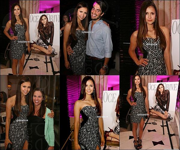 . 18/08/12 : Nina Dobrev, était à une soirée organisés par le magazine Ocean Drive à Miami.. Nina était absolument magnifique, sa robe est super belle, vraiment son style ! Et quant à ses chaussures..Top ou Flop ? .
