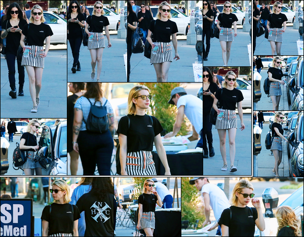-28/01/2018- ─ Emma Roberts a été vue alors qu'elle faisait du shopping au « Melrose Trading Post », à West Hollywood.La belle actrice E.R. qui était en compagnie de sa maman, nous a accordé une nouvelle sortie... Concernant sa tenue, c'est un très jolie top de ma part !