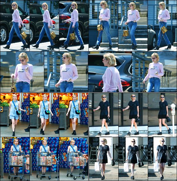 24.08.2017 ─ Emma Roberts a été photographiée, alors, qu'elle se promenait dans les rues, étant, à Los Angeles.Plus tard, la belle blonde Em' a été photographiée faisant ses courses, et le lendemain, quittant Joan's on Third à Studio City... Ces tenues sont des tops !