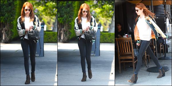 10.05.2016 ─ Emma Roberts a été photographiée allant déjeuner à Kings road cafe, qui est dans Los Angeles, CA.La magnifique actrice a été photographiée dans les rues de la ville pour aller déjeuner... Malheureusement nous avons très peu de photos de la belle !