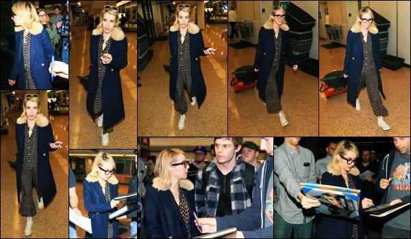 19.01.2018 ─ Emma Roberts a été photographiée alors qu'elle arrivait à l'aéroport dans Salt Lake City dans l'Utah.C'est en compagnie de son petit-ami, Evan Peters, que la belle blondinette E. a été photographiée en arrivant là bas. Concernant sa tenue, c'est un top !