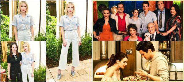 -01/02/2018- ─ Emma Roberts était présente lors du « J Brand Spring Campaign Lunch » ayant lieu dans Los Angeles, CA.Deux premiers stills du film « Little Italy » ont fait leur apparition, Emma Roberts est sublime ! Concernant la tenue de celle-ci, c'est un top de ma part !