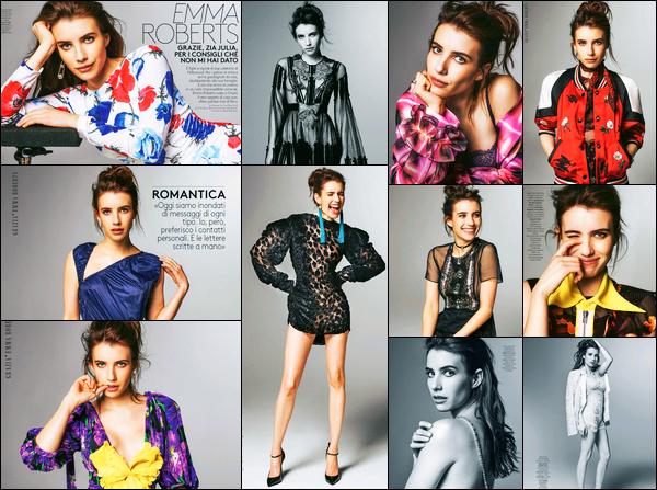 Emma Roberts fait la couverture du magazine « Grazia » du mois de Juin !