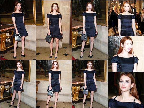 31.05.2016 ─ Emma Roberts était présente lors du défilé de Dior, qui se déroulait, dans la ville dans Londres, UK.Plus tard dans la soirée, Emma a été photographiée alors qu'elle quittait le club Audrey dans les rues de Londres, UK. C'est un top de ma part et vous?
