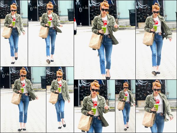 09.06.2016 ─ Emma Roberts a été photographiée, pendant, qu'elle se promenait dans les rues dans Beverly Hills.La magnifique actrice a été photographiée dans une tenue assez simple mais très à mon goût. Je n'aime pas du tout ces chaussures, et vous, avis ?!