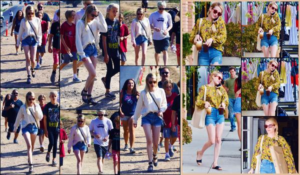 -02/09/2018- ─ Emma Roberts a été aperçue, alors, qu'elle prenait du bon temps au « Malibu Chili Cook-Off » - à Malibu !La veille, la belle actrice E. a été photographiée alors qu'elle faisait des achats avec Evan ! Concernant ses tenues, ce sont des beaux tops pour ma part !