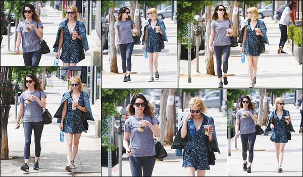 28.06.2016 ─ Emma Roberts a été photographiée alors qu'elle se promenait dans les rues dans Los Angeles, CA.La magnifique actrice a sûrement été acheter une boisson. Concernant sa tenue, j'aime beaucoup sa robe, et les converses aussi. Un top ! Et vous ?!