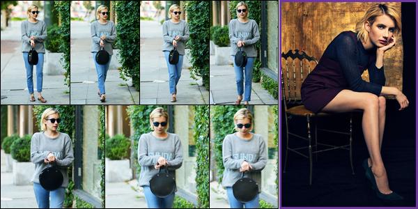 18.09.2017 ─ Emma Roberts a été photographiée alors qu'elle se promenait, dans les rues, dans Los Angeles, CA.Vous pouvez également découvrir le portrait de Emma R. lors des vanity fair réalisé par le photographe Justin Bishop ! Concernant sa tenue, un beau top.