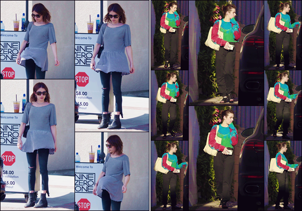 - ''•-19/04/19-' : Emma Roberts quittait le salon de coiffure « Nine Zero One » qui se trouve dans West Holywood. Le même jour la jolie brune a été aperçue lorsqu'elle quittait les lieux d'un centre de soin, accompagnée d'une de ses amie à Los Angeles. -