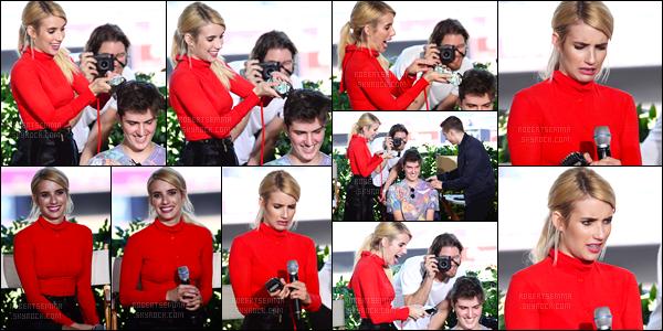 21.07.2016 ─ Emma Roberts était présente, lors, du Comic-con pour la promotion de « Nerve », dans San Diego.Emma s'est ensuite rendue à la radio SiriusXM'S EW et au FOX Comic-con after party. Je suis pas spécialement fan de ses tenues pour ma part. Avis?