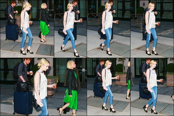 14.09.2016 ─ Emma Roberts a été photographiée, alors, qu'elle quittait son hôtel, qui était, dans New-York City.Un proche de Emma Roberts auraient confirmer qu'elle et Evan se seraient redonner une chance dans leur couple. Pour sa tenue, c'est un top, vous ?