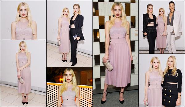 08.10.2016 ─ Emma Roberts  était présente à l'événement Hammer Museum 14th Annual Gala étant à Westwood.Lors de cette événement, Emma a optée pour une jolie robe rose... Elle était magnifique dans sa robe. C'est donc un top de ma part, et vous, avis ?!