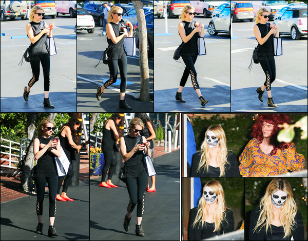 28.10.2016 ─ Emma Roberts a été photographiée alors qu'elle se promenait dans les rues, dans Los Angeles, CA.Un peu plus tard dans la soirée, Emma R et Evan se sont rendus à la soirée Halloween de Kate Hudson. Concernant sa tenue, c'est un top pour moi !