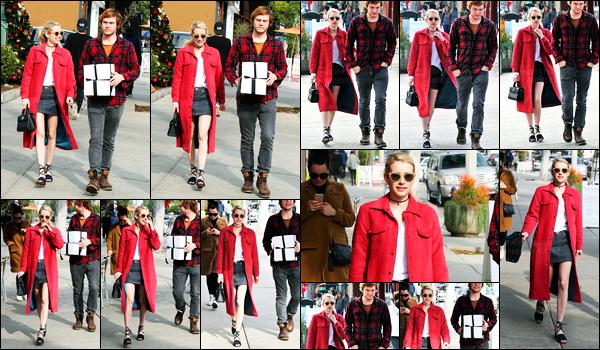 05.12.2016 ─ Emma Roberts a été photographiée pendant qu'elle faisait du shopping étant dans Los Angeles, CA.Emma R. été accompagnée de son fiancé, Evan Peters. Concernant la tenue de la blondinette, c'est un top de ma part, j'aime beaucoup, et vos avis ?