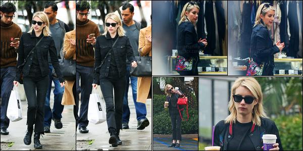 05.01.2017 ─ Emma Roberts a été aperçue alors, qu'elle se dirigeait vers le Joan's on Third dans West Hollywood.La belle blondinette été accompagnée de sa co-star et amie, Lea Michele... Concernant la tenue de l'actrice, c'est totalement noir, mais c'est un top !