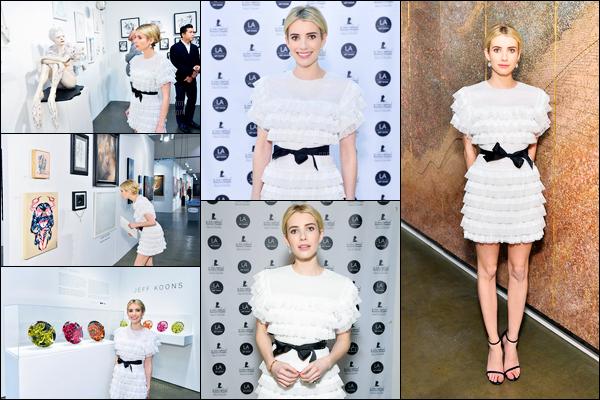 11.01.2017 ─ Emma Roberts était présente à l'événement du « Art Show Benefiting St Jude », étant à Los Angeles.Nous avons très peu de photos de l'événement, mais concernant la tenue de la belle blonde, j'aime beaucoup, elle est magnifique, c'est donc un top !