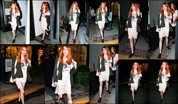 02.02.2017 ─ Emma Roberts a été photographiée alors qu'elle quittait le salon Nine Zero One au West Hollywood.La belle actrice est ressortie avec les cheveux de couleurs Rousse ! Cette couleur lui va si bien, j'adore totalement ! Concernant sa tenue, c'est un bof..