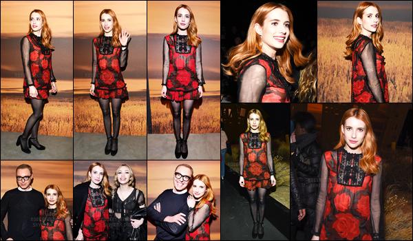 14.02.2017 ─ Emma Roberts était présente au défilé de la marque «Coach» pour la fashion week dans New-York.Enfin une sortie de notre sublime Emma Roberts, je suis ravie. Concernant sa tenue, par compte, je suis pas particulièrement fan, ça lui va, mais bof.