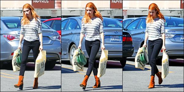 09.03.2017 ─ Emma Roberts a été photographiée, alors, qu'elle faisait du shopping, étant, dans Los Angeles, CA.Nous avons malheureusement peu de photos de la belle Emma lors de cette sortie. Concernant sa tenue, c'est un top de ma part ! Et vous, vos avis ?