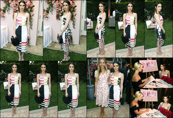 06.05.2017 ─ Emma Roberts était présente lors du dîner organisé par Kim Crawford, qui avait lieu à Beverly Hills.Notre belle actrice a optée pour une robe plutôt coloré pour le dîner. Concernant sa tenue, pour ma part, c'est un top, et également pour sa coiffure !