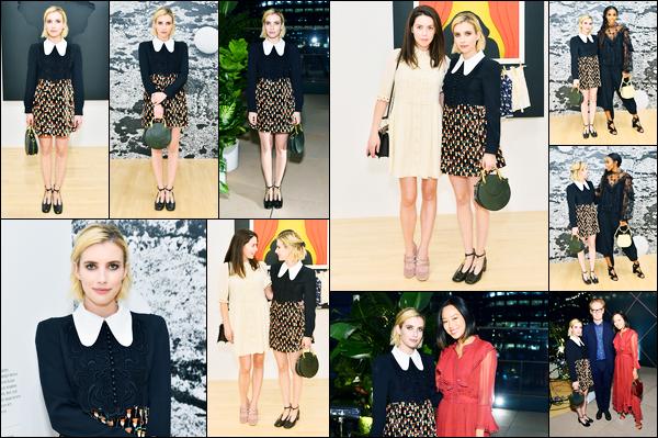 19.09.2017 ─ Emma Roberts était présente au dîner « Chloe X MOCA », se déroulant, dans la ville de Los Angeles.Le dîner avait lieu au musée d'art contemporain dans la ville de Los Angeles... Concernant sa tenue, c'est un très beau top de ma part, personnellement...