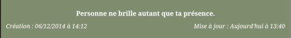 Article inédit bonjour!