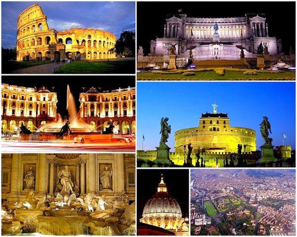 . Les plus grandes villes d'Italie : partie 1 : Rome et Milan   .