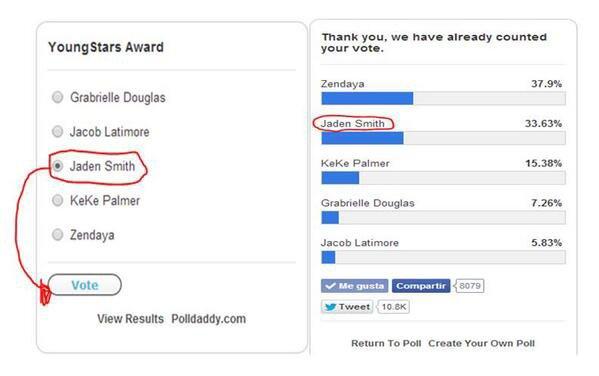 Aider les Jadenators voter Jaden smith pour les BET Awards 2014 sur cbsloc.al/1n5dzbi
