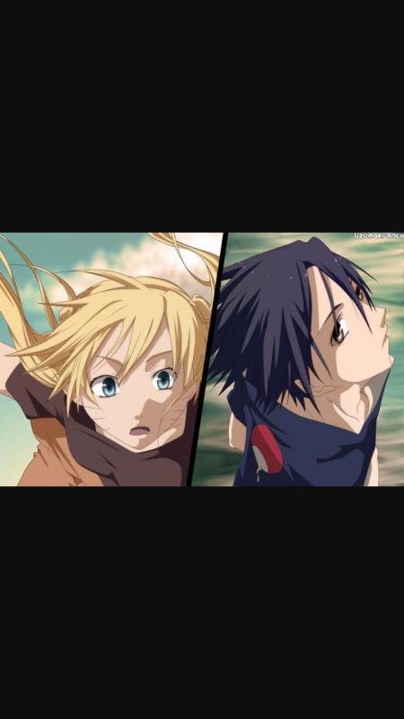 Naruko (naruto en fille ) et Sasuke