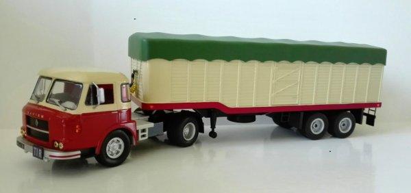 Quelle déception de ne pas voir la parution de ce Saviem JM 240 en version tracteur dans la collection Altaya semi remorques ! Je  l'ai donc réalisé avec le modèle de la série des porteurs.