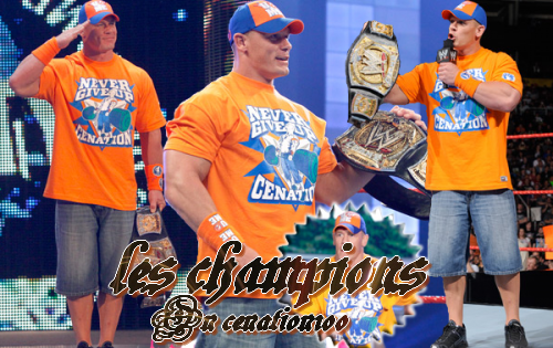 les champions actuels On Cenation100